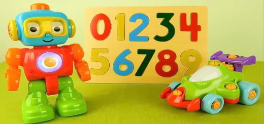 Робот Q и его друзья - Учим цифры. Развивающее видео для детей