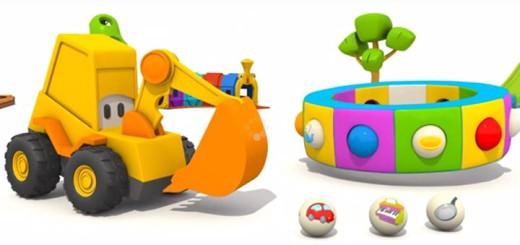 Max-der-Bagger-&-Karussell---Geschirr!-Dinge-aus-der-Küche---3D-Cartoon-in-Deutsch