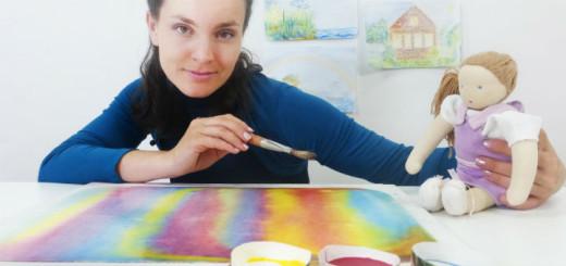 Доминика рисуем красками 720