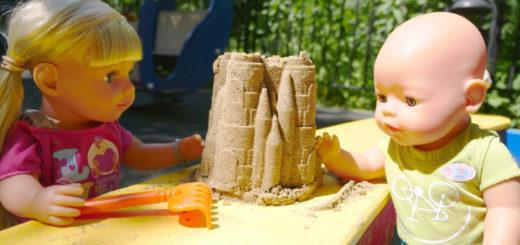 беби бон в песочнице